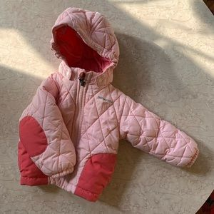 Pink Patagonia puffy jacket 6 months down quilted